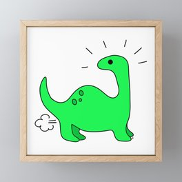 Dino Farts 1 Framed Mini Art Print