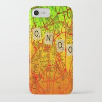 london map iPhone & iPod Cases featuring London Map by Ganech joe