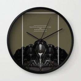 Technological evolution or extinction Wall Clock