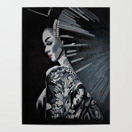 Tattooed Geisha Poster
