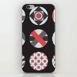 Geometric Circle Pattern iPhone Skin