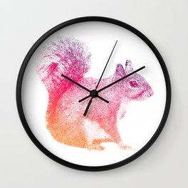 Wild Squirrel on a Silent Plain Wall Clock
