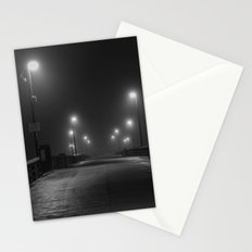 Foggy Night in Newport Stationery Cards