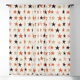 Star Pattern Color Blackout Curtain