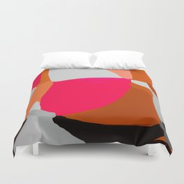 Abstract in Pink, Brown and Grey Duvet Cover