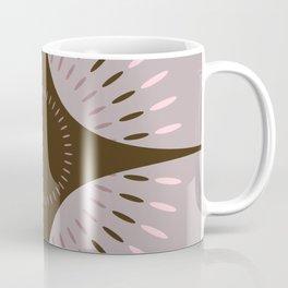 Vintage Bloom - Mid Century Modern Pastel Floral Grey Brown Pink Coffee Mug