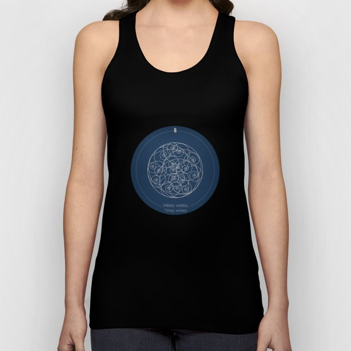 Doctor Who: Wibbly Wobbly Unisex Tank Top