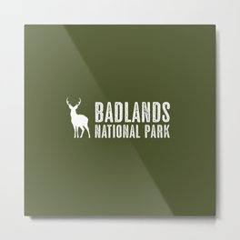 Deer: Badlands National Park, South Dakota Metal Print