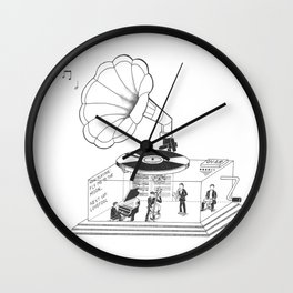 How does a Gramophone actually work? Wall Clock