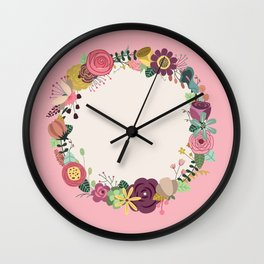 Work Hard & Be Kind Wall Clock
