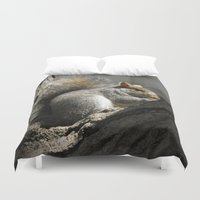 squirrel Duvet Covers featuring Squirrel by Mandy Becker