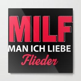 MILF - Lilac Metal Print