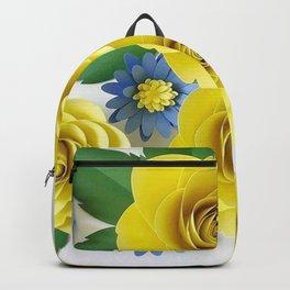 Rosas Amarelas < Arte em papel> Backpack
