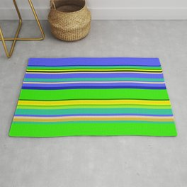 Color Stripes 2 - blue and green Rug