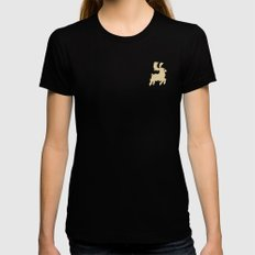 Rudolph Black MEDIUM Womens Fitted Tee
