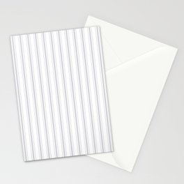 Soft Grey Mattress Ticking Wide Striped Pattern - Fall Fashion 2018 Stationery Cards