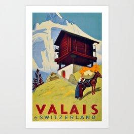 Valais, CH, Switzerland Art Print