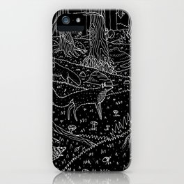 Nocturnal Animals of the Forest iPhone Case