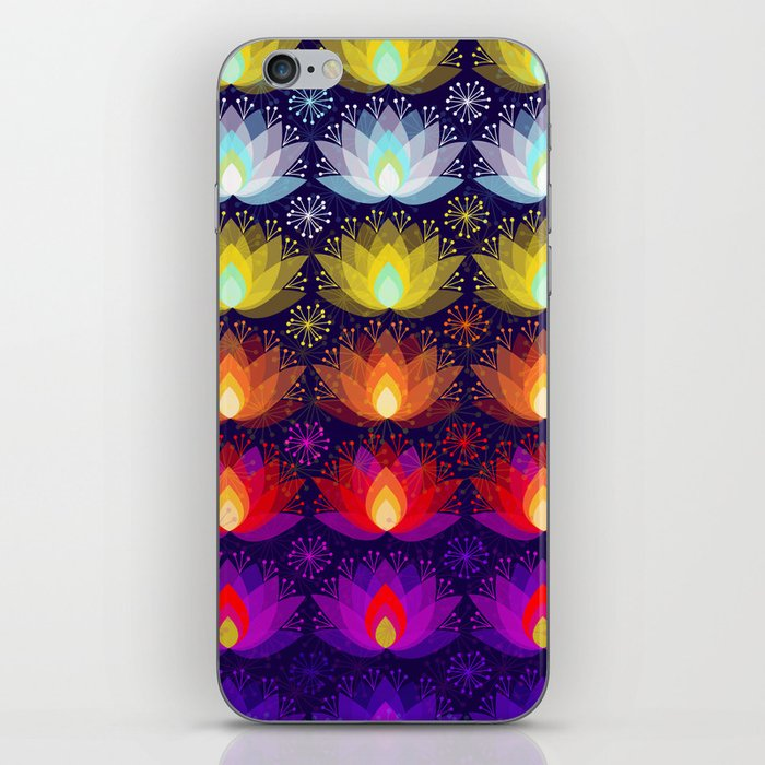 Variations on a Lotus I - Sparkle Brightly iPhone Skin
