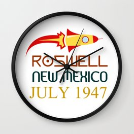 Roswell New Mexico july 1947 Wall Clock