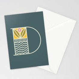 Letter D Stationery Cards