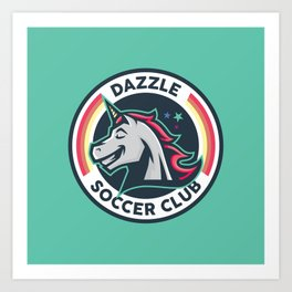 Dazzle Soccer Club - Sparkle On Art Print