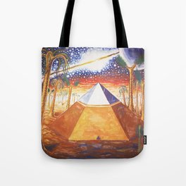 The Cydonia pyramid by the time there was life on Mars Tote Bag