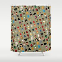 superheroes Shower Curtains featuring SuperHeroes by Luca Giobbe