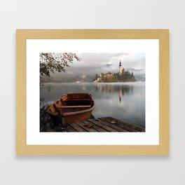 Bucolic landscape Framed Art Print