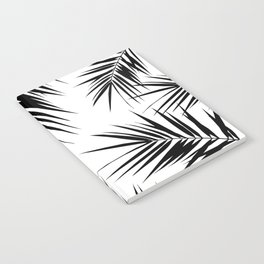 Palm Leaves Cali Finesse #3 #BlackWhite #tropical #decor #art #society6 Notebook