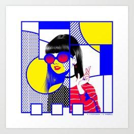 pop art (collab) Art Print