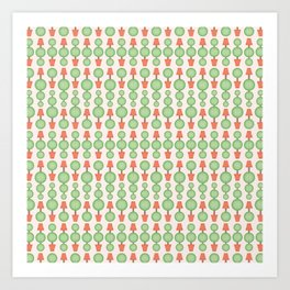 Circular topiary tree seamless vector pattern Art Print