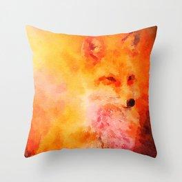 Soft Fox Throw Pillow