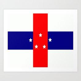 Flag of the Netherlands Antilles Art Print
