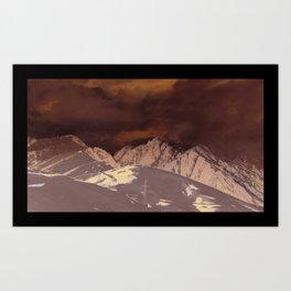 mountain / snow Art Print