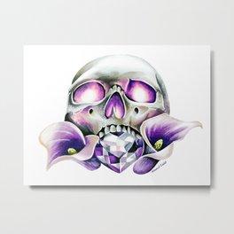 Calla Skull Metal Print