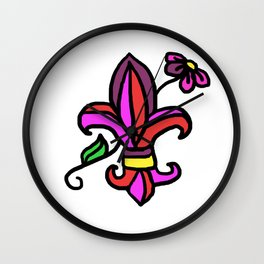 le fleur de lis Wall Clock