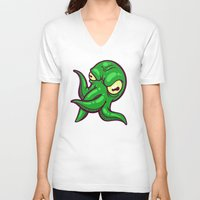 cthulhu V-neck T-shirts featuring Cthulhu by Artistic Dyslexia