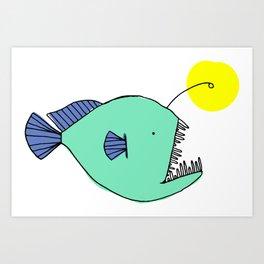 Deep Sea Anglerfish Art Print