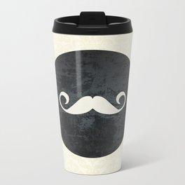 moustache Metal Travel Mug