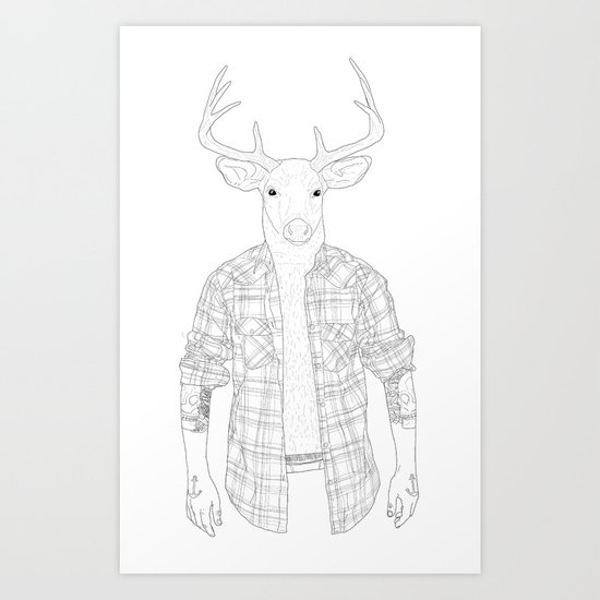 What the Deer ? Art Print