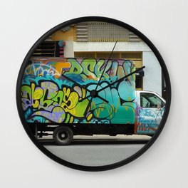 graffiti truck coopers Wall Clock