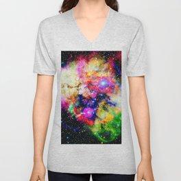 magical colorful nebula universe Unisex V-Neck