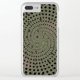 Earthen Spiral Clear iPhone Case