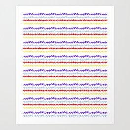 Radio Waves Art Print