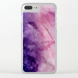 Violet - Watercolor Painting in Ultra Violet Purple and Pink Clear iPhone Case