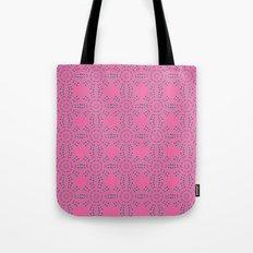 Dragonfruit Pink Circles Tote Bag