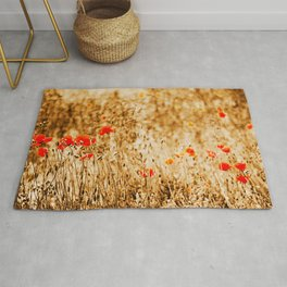 field of Poppies Rug