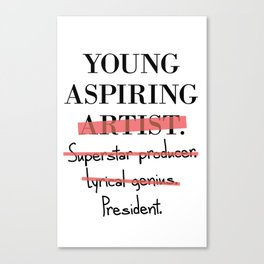Young Aspiring Artist parody shirt F*** Old Navy Canvas Print