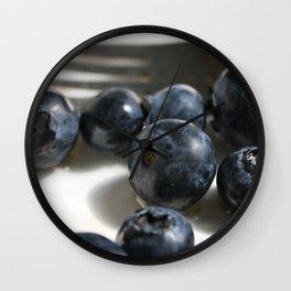 Blueberries 2 Wall Clock